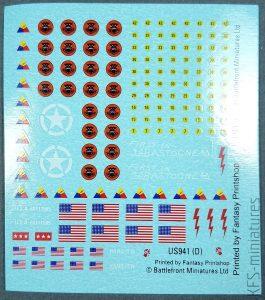 1/100 American Decals - Battlefront Miniatures