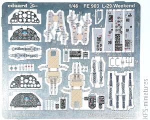 1/48 L-29 Weekend- blachy - Eduard