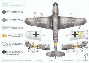 The Last in the line vol.1 - Bf 109 G-10 WNF - EXITO Decals