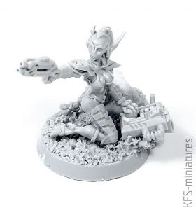 28mm Greater Good Network Hacker - Grim Skull