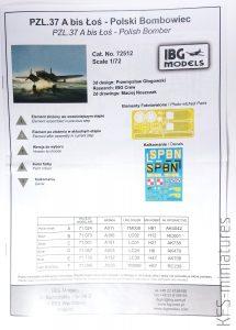1/72 PZL.37A bis I Łoś - SP-BNL - IBG Models