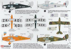 1/72 D.H. 83 Fox Moth – AVI Models