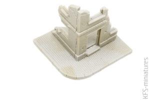 1/72 House corner ruin - ModellTrans Modellbau
