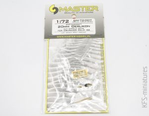 1/72 Anti-Aircraft 20mm Oerlikon Gun Barrels - Master