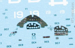 1/72 FM-2 Wildcat Instrument Panel - Yahu Models