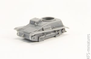 1/72 Type 94 Japanese tankette with trailers - Budowa