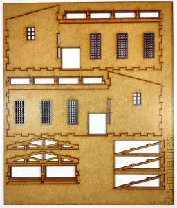 "1/100 Budynek fabryczny ""T"" - Lasercut Buildings"