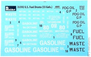 1/35 U.S. Fuel Drums 55 Gals. - MiniArt