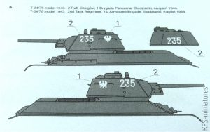 1/35 T-34 Tanks in Polish Service 1943-1945 - ToRo Model