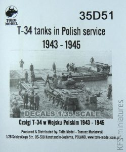 1/35 T-34 Tanks in Polish Service 1943-1945 - ToRo Model