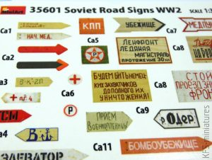 1/35 Soviet Road Signs - WWII - MiniArt