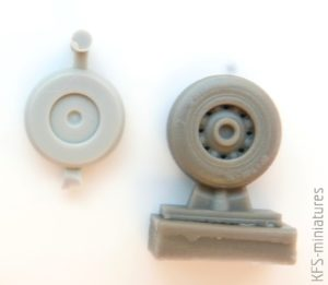 1/72 DeHavilland Sea Vixen wheels set - Reskit/Aires