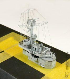 1/700 German Light Cruiser Konigsberg 1940 – Budowa cz. 2