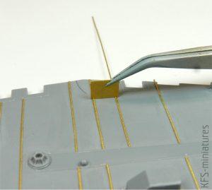 1/350 IJN Metal Bracing of Linoleum (Brass Strips) Warship Deck Bracing - Rainbow