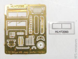 1/72 Jeep Airfix/Heller - blaszki - Hauler