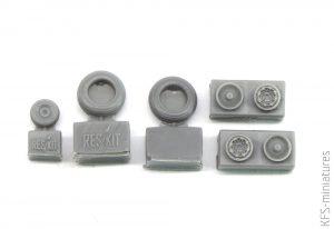 1/72 IAI Kfir wheels set - ResKit