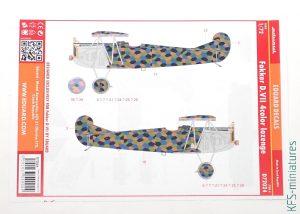 1/72 Fokker D.VII Lozenge & Rib Tapes