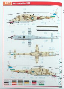 1/72 Mi-24V around the World - Kalkomanie - Eduard