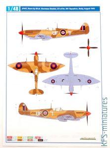 1/48 Spitfire Mk. VIII - Kalkomanie - Eduard