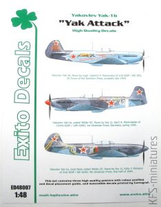"Yakovlev Yak-1b ""Yak Attack"" - Exito Decals"