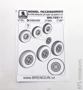 1/72 P-47N Wheels - Brengun