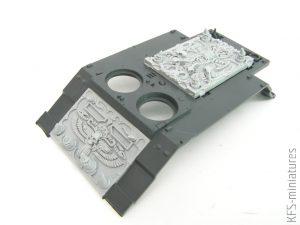 28mm Chaos Egypt Sons Rhino Conversion Set #VB - Grim Skull