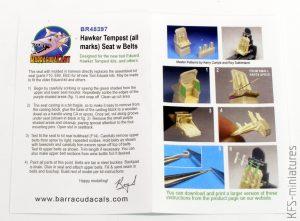 1/48 Hawker Tempest - Waloryzacje - Barracuda Studios