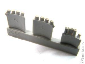 1/48 Fw 190A exhaust stacks for Eduard - Eduard