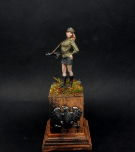 70mm Polish People's Army Pin-up girl - Valkiria Miniatures
