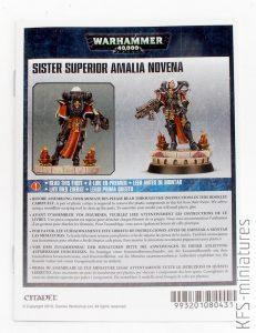 28mm Sister Superior Amalia Novena - Games Workshop
