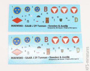 """1/144 SAAB J-29F """"TUNNAN"""" - Swedish Jet Fighter - Miniwing"""