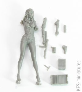 70mm SAS Girl - Valkiria Miniatures