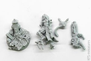 28mm Mechanic Adept Eradicator With Plasma Cannon - Grim Skull