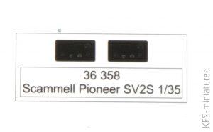 1/35 Scammell Pioneer SV2S - Blachy - Eduard
