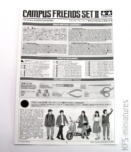 1/24 Campus Friends Set II - Tamiya