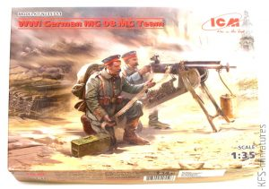 1/35 German MG08 Machine Gun Team - ICM