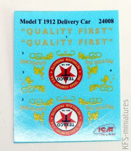 1/24 Gasoline Delivery Ford T - ICM