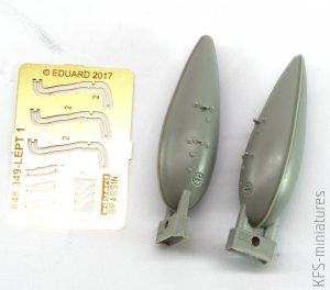 1/48 P-51D 75gal fuel tanks for Airfix - Eduard