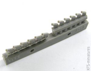 1/48 P-51D exhaust stacks for Airfix - Eduard