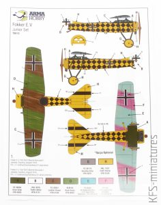 1/72 Fokker E.V Junior set - Arma Hobby
