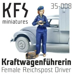 1/35 Female Reichspost Driver