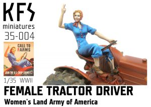 1/35 WLA Female Tractor Driver