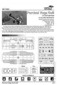 1/72 Percival Vega Gull - civil service – Dora Wings