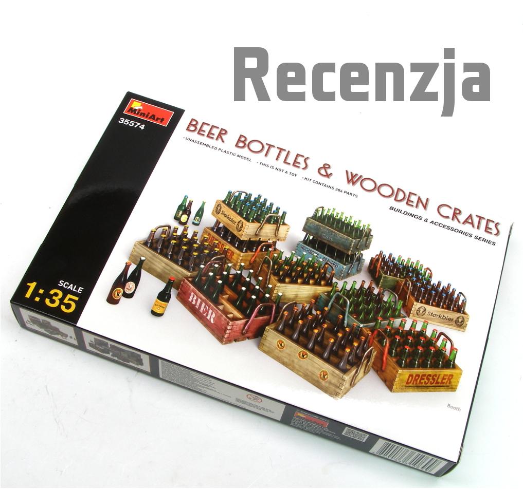 Neu Miniart 35574-1//35 Beer Bottles And Wooden Crates