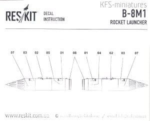 1/72 B8M1 rocket launcher - ResKit